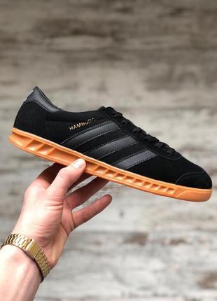 Шикарные мужские кеды adidas hamburg black