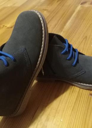 Стильные деми ботинки натуральная замша 31р friboo
