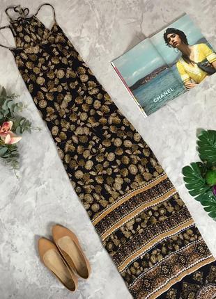 Вискозное платье в пол на тонких бретелях  dr1912121  new look