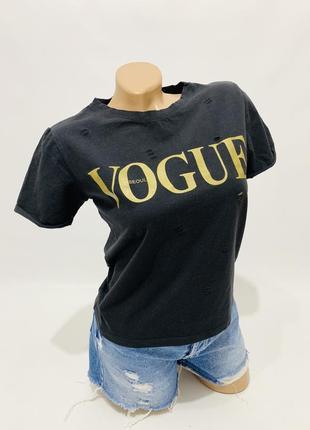 dc8cd7e2854 Футболки Vogue 2019 - купить недорого вещи в интернет-магазине Киева ...