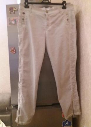 Крутые стрейчевые брюки варенки, с молниями на штанинах, отлично тянутся-бренд-2biz