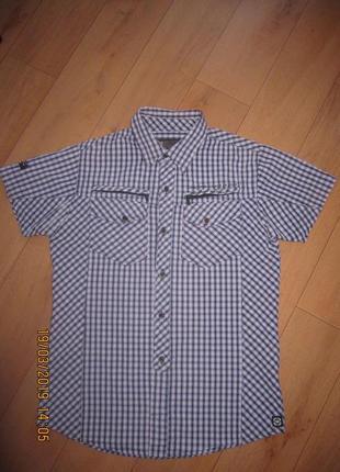 Стильная рубашка с коротким рукавом denim размер м