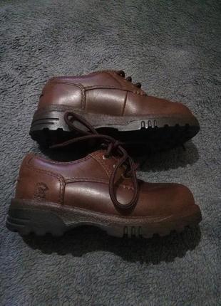 Демисезонные ботиночки туфли кожа