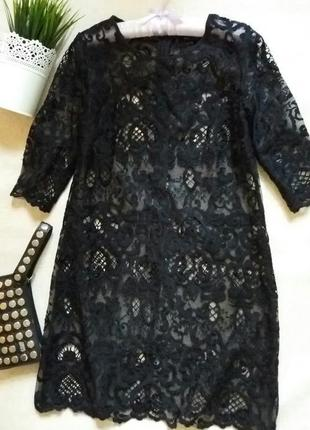 Шикарное кружевное платье с майкой