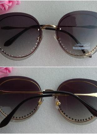 New 2019! новые красивые очки со стразами, черные