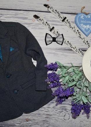 2 - 3 года 98 см фирменный мего крутой пиджак очень модному стильная классика мальчику