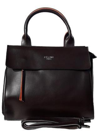 """Женская кожаная сумка """"exquisite classic"""" темно-коричневая"""