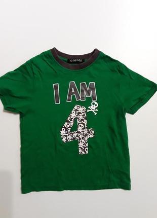 Фирменная футболка 4-5 лет