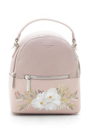 Городской рюкзак david jones с цветочным принтом cm5150t розовый6