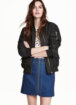 H&m джинсовая юбка,l
