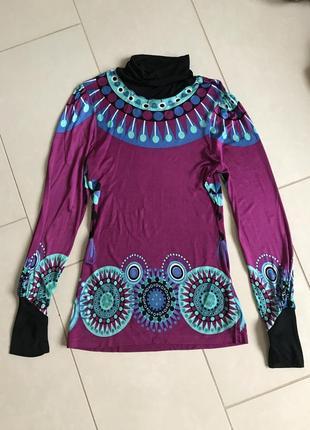 Блуза уникальная фирменная стильная дорогой бренд custo barcelona размер 38 или м