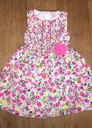 Красивое платье с летним принтом
