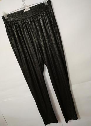 Серебристые новые штаны леггинсы h&m uk 12/40/m
