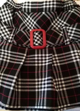 Новая юбка в клетку на 3 года