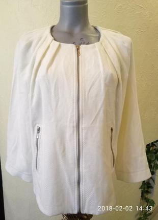 Акция!котоновый жакет,куртка-бомбер из фактурной ткани