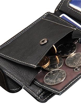 Кожаный мужской кошелек baellerry stallion черный5 фото
