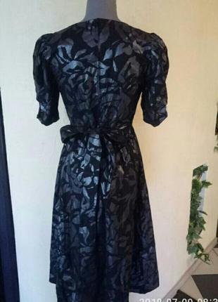 Трендовое платье котон,с напылением цвета 《никель》2