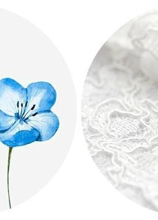 Любая расцветка! хлопковая фактурная шапка beanie с отворотом/косы/светло-синий, белый4