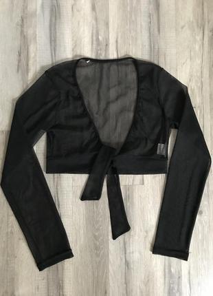 Прозрачная черная кофта