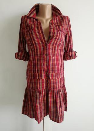 👑 платье рубашка в клетку 👑клетчатое платье