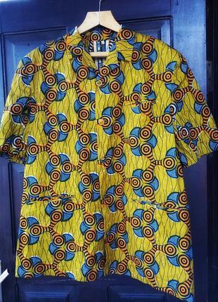 Пиджак жакет блейзер с коротким рукавом летний на подплечниках узор орнамент с карманами