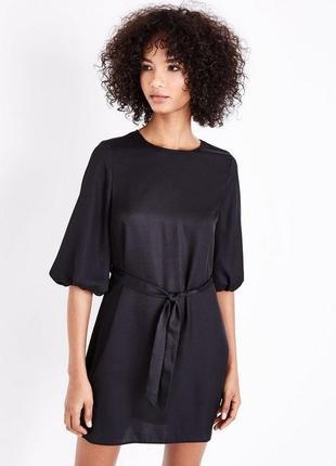 Маленькое чёрное платье , рукава фонарики4