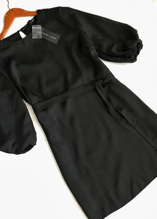 Маленькое чёрное платье , рукава фонарики6
