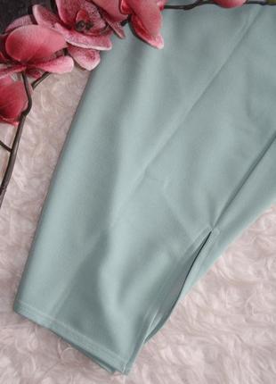 Мятная миди юбка4 фото