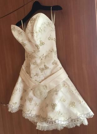 Свадебное/выпускное платье короткое