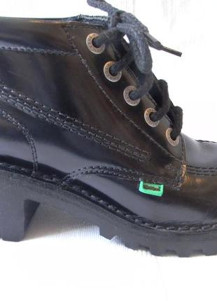 Лакированная кожа ботинки kickers micro-fresh technology