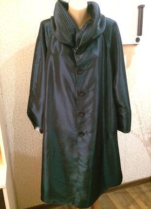 Шикарный дождевик плащ оверсайз двухсторонний с капюшоном