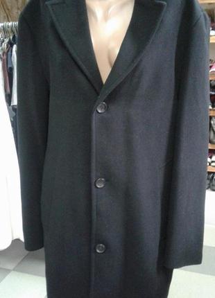 Легкое мужское пальто 50 размера / натуральная шерсть /бренд