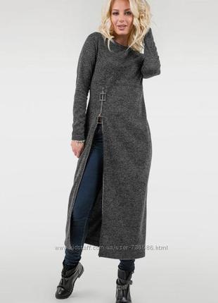 Стильное платье -туника свободного кроя 48-52