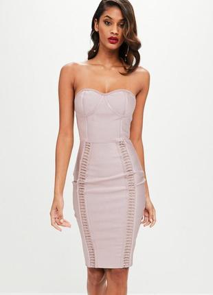 Бандажное платье бюстье