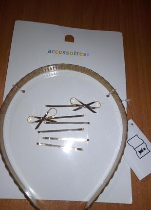 Шикарный набор украшений accessoires, заколки и обруч