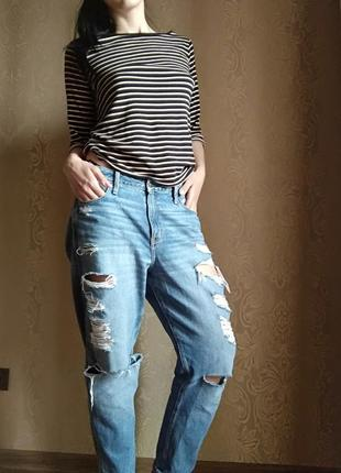 Рваные джинсы бойфренды abercrombie and fitch оригинал!!