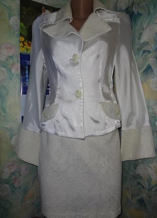 Костюм в 1 экземпляре юбка+пиджак р.м