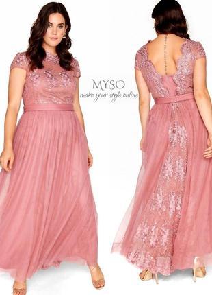 Вечернее платье нежно-розового цвета