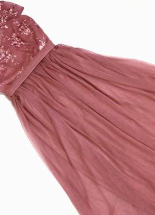 Вечернее платье нежно-розового цвета2 фото