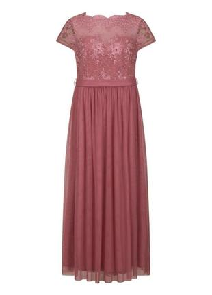 Вечернее платье нежно-розового цвета3 фото