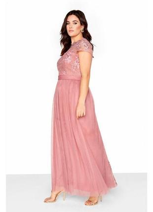 Вечернее платье нежно-розового цвета5 фото