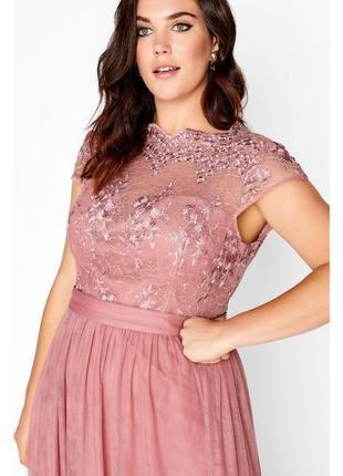 Вечернее платье нежно-розового цвета8 фото