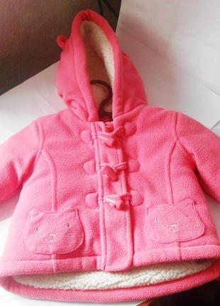 Яркое тёплое детское пальто для вашей принцессы, куртка для новорожденного, 0-3 мес