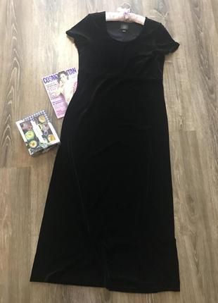 Бархатное винтажное платье