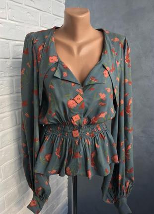 Шикарна блуза в квітковий принт