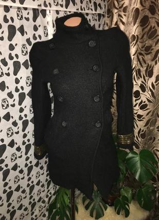 Шерстяное двубортное пальто 1+1=3 🎁