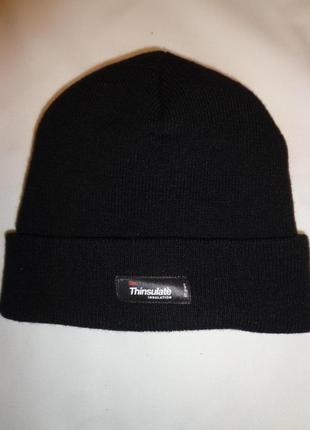 Thinsulate 40 gram тёплая мужская шапка с подкладкой новая оригинал