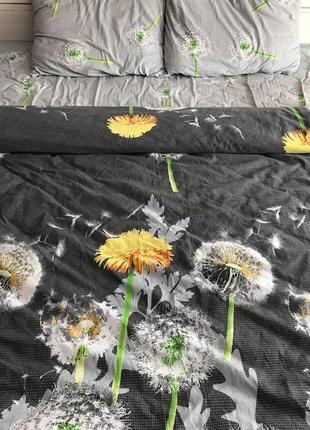 Постельное белье из бязи евро с одуванчиками