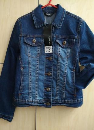 Куртка джинсовая пиджак george на 9-10 лет