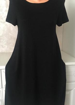 Универсальное чёрное базовое платье свободного фасона over size